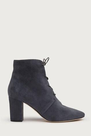 L.K.Bennett Grey Lira Lace-Up Ankle Boots