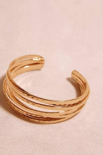 Mint Velvet Gold Stacked Bangle Bracelet