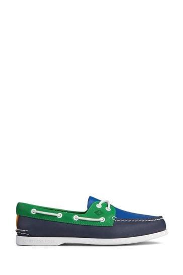 Sperry Blue Authentic Original PLUSHWAVE Boat Shoes