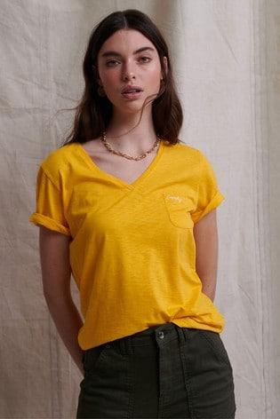 Superdry Orange Label Essential V-Neck T-Shirt