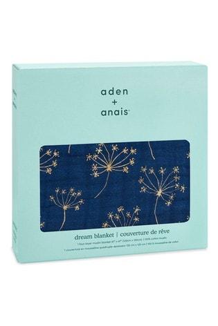 aden + anais White Metallic Dream Blanket