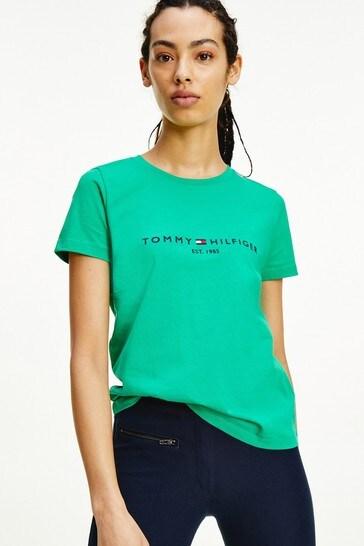 Tommy Hilfiger Green Essential Crew Neck T-Shirt