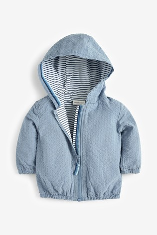 Blue Lightweight Seersucker Jacket (0mths-3yrs)