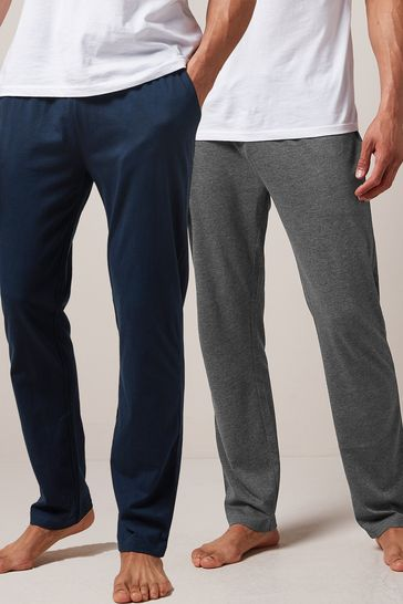 Navy/Charcoal Pyjama Bottoms Two Pack