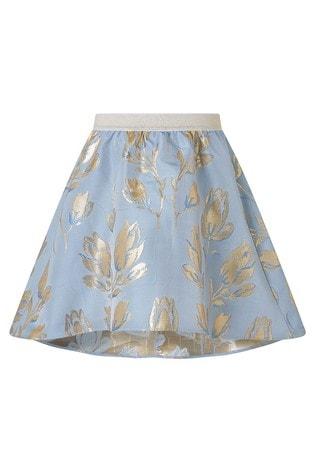 Monsoon Blue Tulip Jacquard Skirt