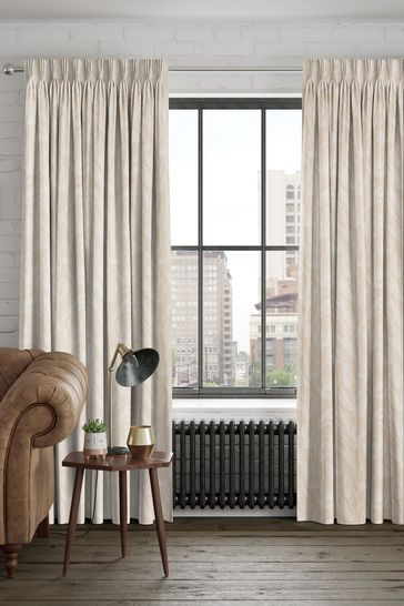 Ophia Sand Natural Made To Measure Curtains
