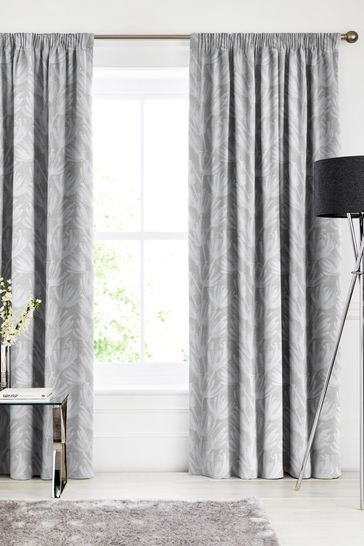 Ophia Silver Grey Made To Measure Curtains
