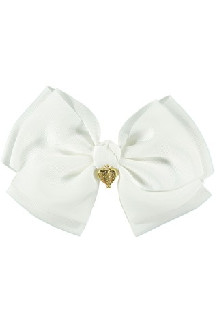 Angel's Face White Giant Bow