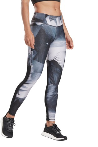 Buy Reebok Black All Over Print Leggings From Next Luxembourg