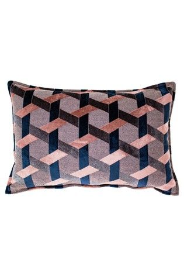 Delano Geo Velvet Jacquard Cushion by Riva Home