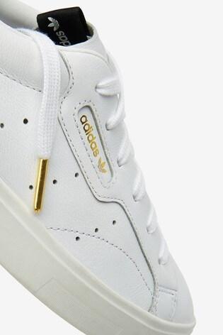 adidas Originals White Sleek Lo Trainers