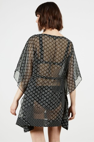 Ted Baker Black Mamboh Square Cover-Up
