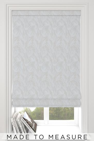 Ophia Silver Grey Made To Measure Roman Blind