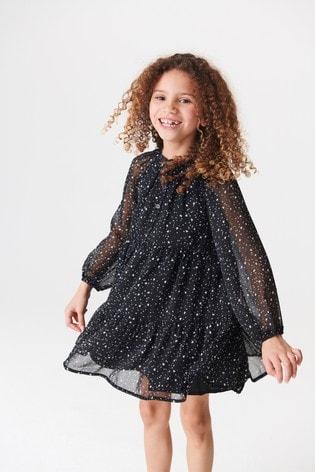 Black Tiered Dress (3-16yrs)