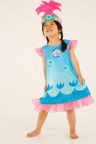 F&F Blue Poppy Trolls Dress Up
