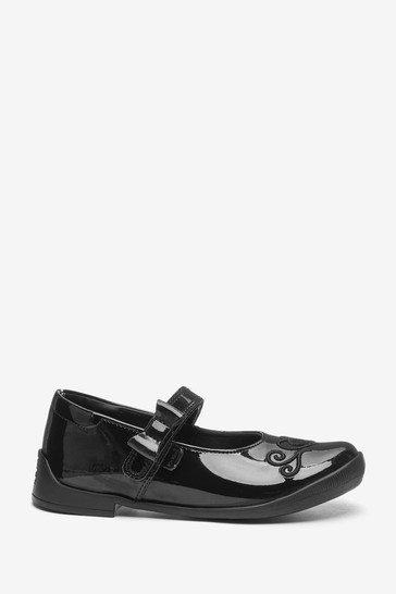 Kickers Infants Bridie Heart Mary-Jane Patent Leather Shoes