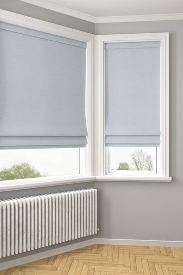 Soho Powder Blue Made To Measure Roman Blind
