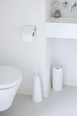 Set Of 3 Brabantia Toilet Accessories, Brabantia Bathroom Accessories