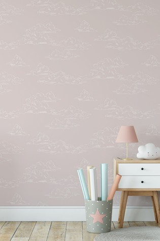 Art For The Home Pink Superfresco Easy Vintage Cloud Wallpaper
