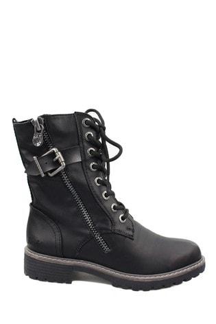 Blowfish Black Rauly Vegan Combat Boots