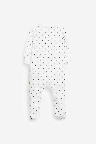 White Mickey Mouse™ Sleepsuit (0-18mths)