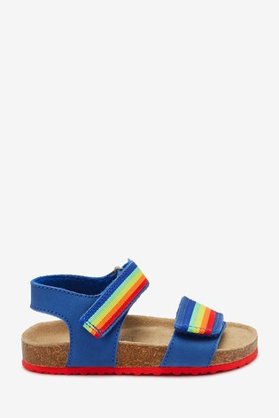 Blue Rainbow Corkbed Sandals (Younger)