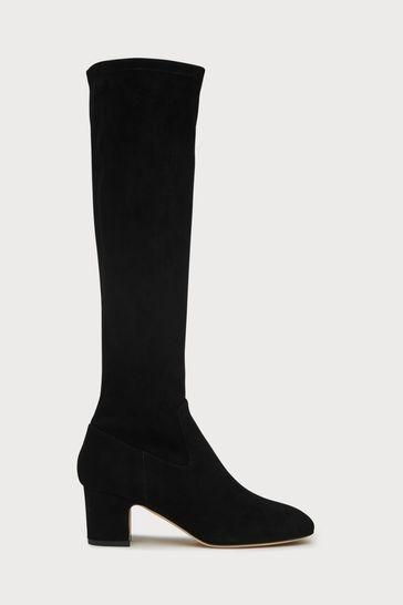 L.K.Bennett Kiran Stretch Suede Knee Boots