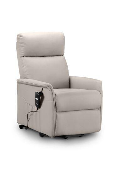 Helena Faux Leather Pebble Recliner Chair by Julian Bowen