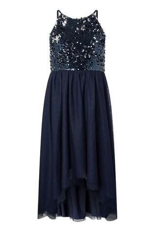 Monsoon Blue Saskia Two Way Sequin Prom Dress