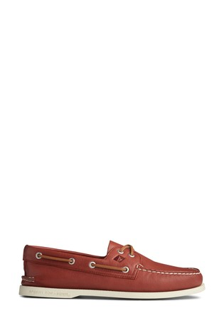 Sperry Red Authentic Original Whisper Boat Shoes
