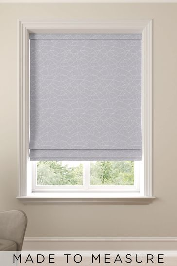 Cullen Slate Silver Made To Measure Roman Blind
