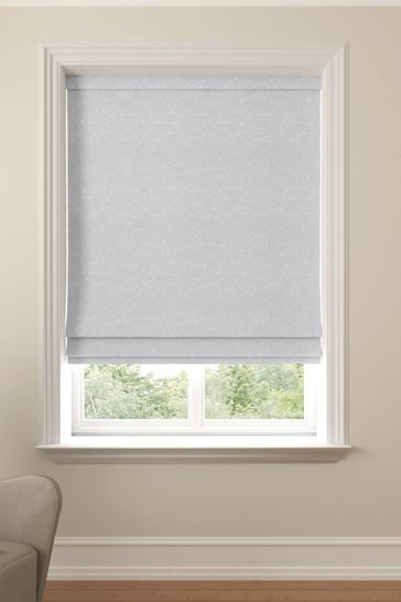 Cullen Silver Grey Made To Measure Roman Blind