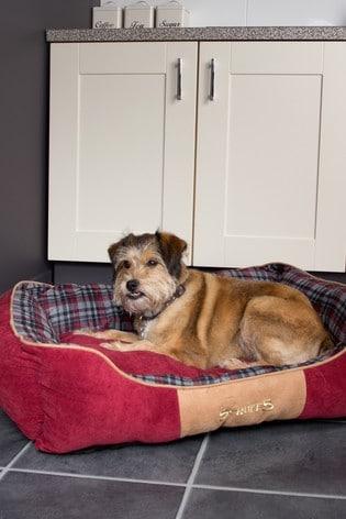 Washable Highland Tartan Large Breed Dog Bed by Scruffs®