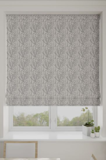 Mabel Slate Grey Made To Measure Roman Blind