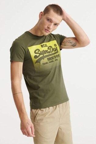 Superdry Vintage Logo Halftone Embossed T-Shirt