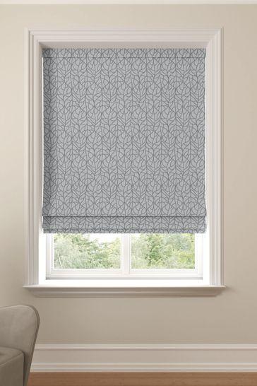 Winterton Silver Grey Made To Measure Roman Blind