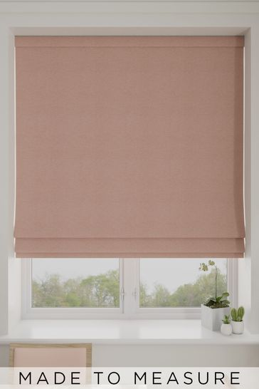Coral Pink Soho Made To Measure Roman Blind