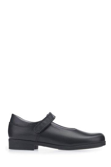 Start-Rite Samba Wide Fit Black Leather Shoes