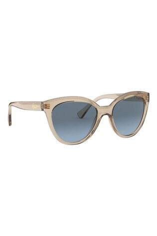 Ralph by Ralph Lauren Brown Transparent Sunglasses
