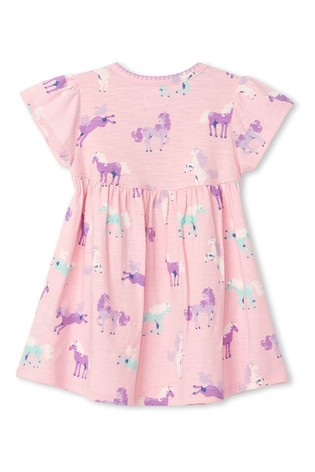 Hatley Pink Playful Ponies Baby Puff Dress