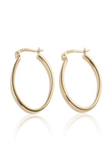 Beaverbrooks 9ct Hoop Earrings