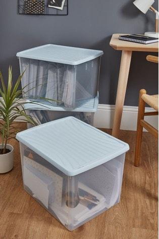 Set of 3 Box 50L Boxes by Wham
