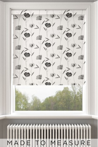 Izzy Mono Black Made To Measure Roller Blind