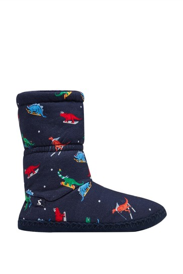 Joules Blue Junior Padabout Slipper Socks