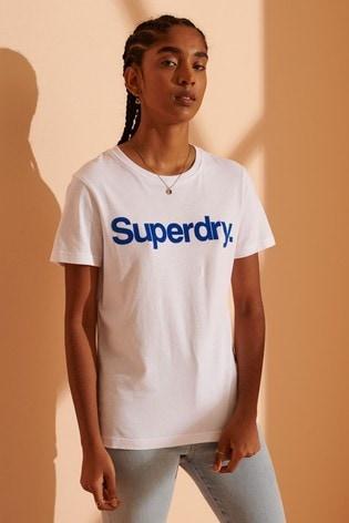 Superdry Classic Logo Flock T-Shirt
