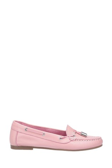 Riva Pink Ostuni Slip-On Tassle Shoes