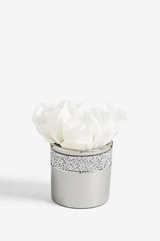Artificial Roses In Scatter Gem Pot