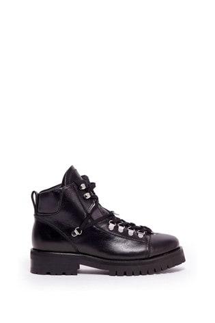 AllSaints Black Lace-Up Shoes
