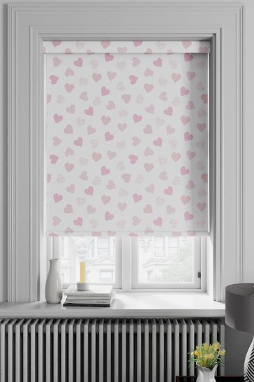 Hearts Pink Made To Measure Roller Blind