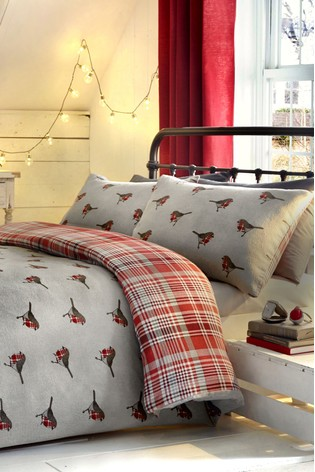 Fusion Robin Brushed Cotton Duvet Cover and Pillowcase Set